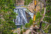 The famous and beautiful Yellowstone River in Wyoming ALMWX6YTX  写真素材・ストックフォト・画像・イラスト素材 アマナイメージズ