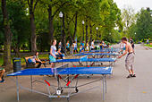Ping pong, table tennis, Gorky Park, Moscow, Russia, Europe ALMEARDPK| 写真素材・ストックフォト・画像・イラスト素材|アマナイメージズ