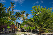 beach beachfale SAMOA UPOLU namua island  NE northeast coast white sand coast clouds sea waterline ALMAT68DX| 写真素材・ストックフォト・画像・イラスト素材|アマナイメージズ
