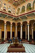 India, Rajasthan, Shekhawati, Nawalgarh, Grand Haveli Hotel interior ALM2ARRGMH| 写真素材・ストックフォト・画像・イラスト素材|アマナイメージズ