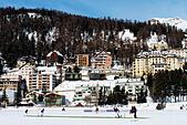 Europe, Switzerland, Graubunden, Engadine, St Moritz in winter, cricket on ice sports event ALMG12G3K| 写真素材・ストックフォト・画像・イラスト素材|アマナイメージズ