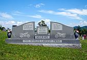 The Worlds Largest Twins grave in Hendersonville North Carolina ALMD8C39H  写真素材・ストックフォト・画像・イラスト素材 アマナイメージズ