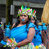 New Orleans, Louisiana - The Original Big Seven/Mother's Day Second Line Parade. ALMTXN53J| 写真素材・ストックフォト・画像・イラスト素材|アマナイメージズ