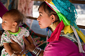 Lahu people Shi Balah Hill Tribe Thailand, Thai hilltribe Karen long necks villagers wearing brass rings,Thaton, Ecotourisim Village Chiang Mai, Asia ALMBHNC5K| 写真素材・ストックフォト・画像・イラスト素材|アマナイメージズ