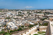 View from the citadel in the town of Victoria, the capital of Gozo island in Malta ALMK70R6H| 写真素材・ストックフォト・画像・イラスト素材|アマナイメージズ