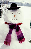 SNOWMAN with hat 2010 ALMKTE3TT| 写真素材・ストックフォト・画像・イラスト素材|アマナイメージズ