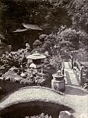 Japanese Garden Lowther Castle 1911. ALM2CCWB0E| 写真素材・ストックフォト・画像・イラスト素材|アマナイメージズ