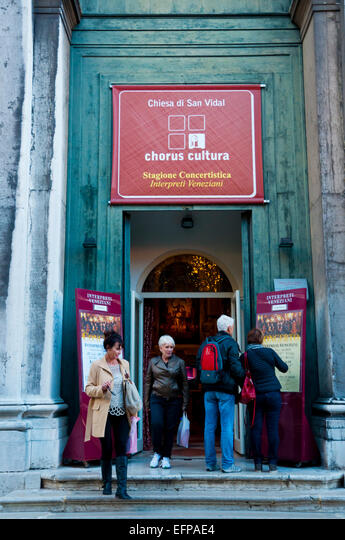 Chiesa di San Vidal, choral music church, concert venue, San Marco district, Venice, Italy ALMEFPAE4| 写真素材・ストックフォト・画像・イラスト素材|アマナイメージズ