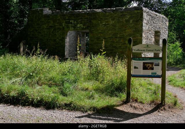 Cally Old School,a girls school house built cira 1820 by Lady Anne Bingham , Galloway Forest Park,Gatehouse of Fleet,Dumfries & Galloway, Scotland ALM2GETRGB  写真素材・ストックフォト・画像・イラスト素材 アマナイメージズ
