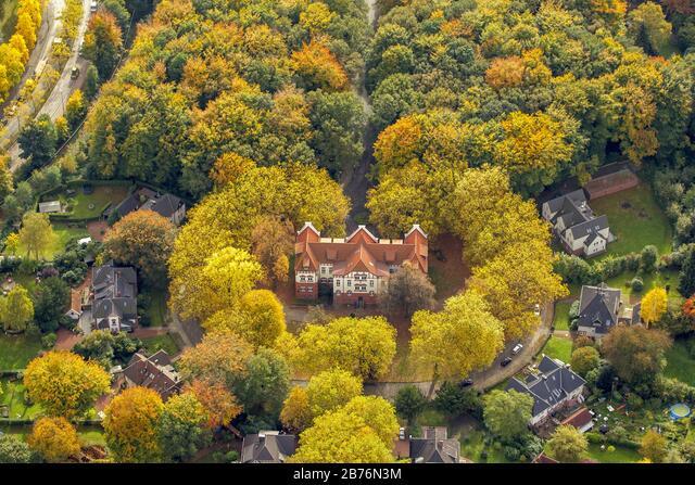 , Music School of Gladbeck, 12.10.2012, aerial view, Germany, North Rhine-Westphalia, Ruhr Area, Gladbeck ALM2B76N3M  写真素材・ストックフォト・画像・イラスト素材 アマナイメージズ