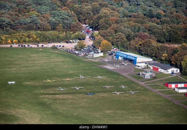 Netherlands, Loosdrecht, Airport and flight school. Aerial ALMDHW4W1  写真素材・ストックフォト・画像・イラスト素材 アマナイメージズ