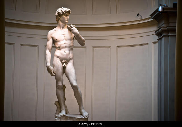 David sculpture by Michelangelo wordls most famous statue, Florence Accademia in Italy ALMPB15YC  写真素材・ストックフォト・画像・イラスト素材 アマナイメージズ