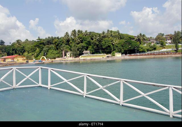 Water sports complex view ; Port Blair ; South Andaman Islands ; Bay of Bengal ; India October 2008 ALMET17Y4  写真素材・ストックフォト・画像・イラスト素材 アマナイメージズ