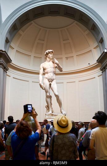 Michelangelo's David, Accademia Gallery Museum ALMRJM3M9  写真素材・ストックフォト・画像・イラスト素材 アマナイメージズ